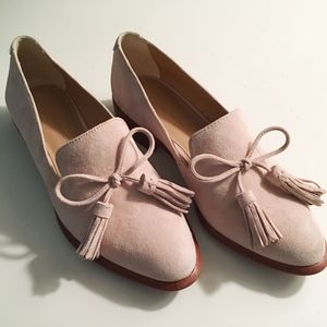 BR Suede Loafer with Demi Tassels - like new! Sz 5